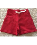 NEW Garanimals Boys Red Sweatpants Shorts Faux Drawstring 3-6 Months - $3.50