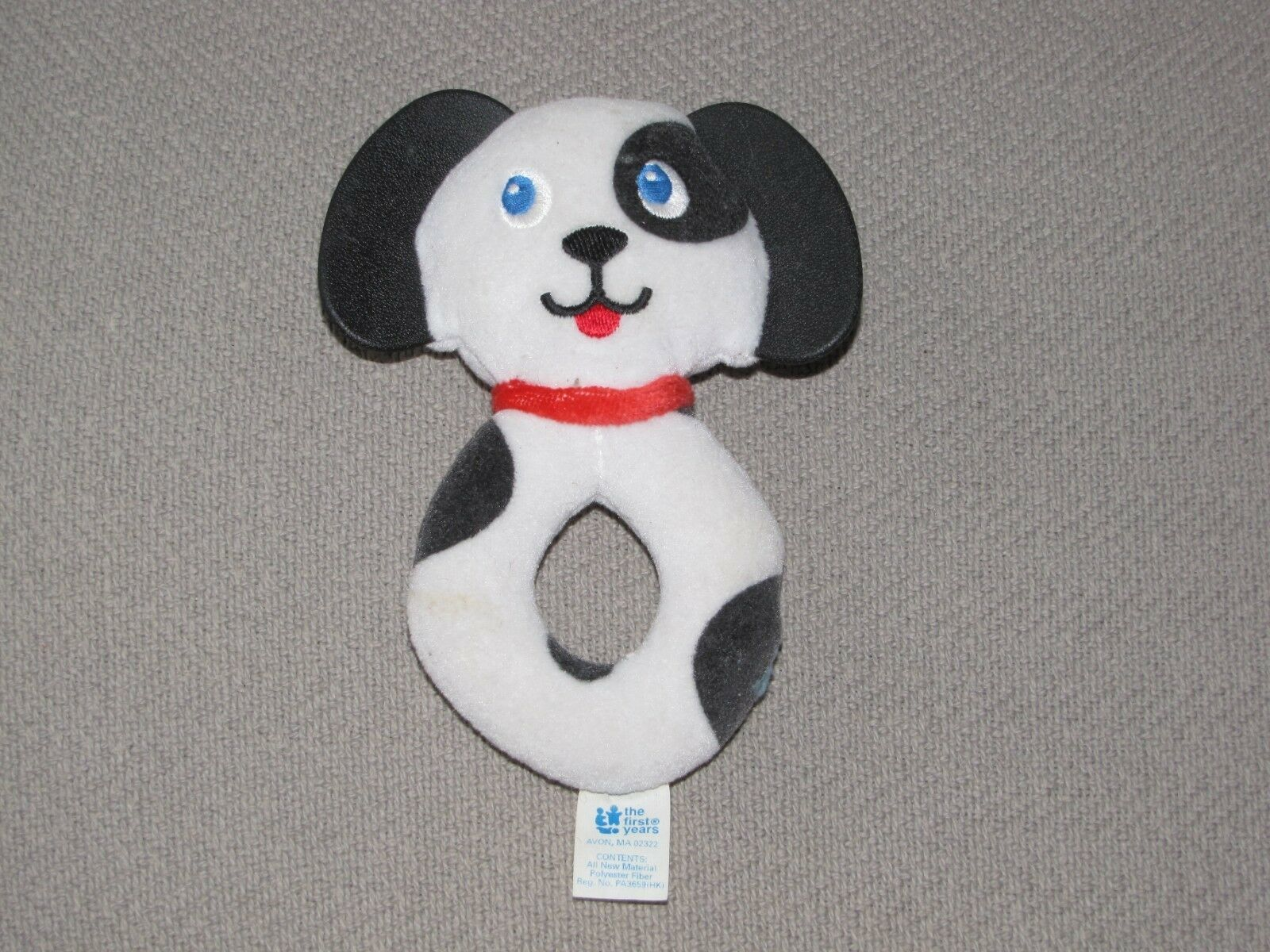 Primary image for THE FIRST YEARS DALMATIAN DALMATION DOG STUFFED PLUSH BABY SOFT RING RATTLE TOY