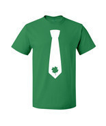 Shamrock Clover Tie Irish Lucky St Patricks Day Ireland Short Sleeve Tee - $19.46 CAD+