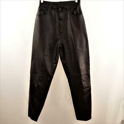 Primary image for Deerskin Leather Black Jeans Lined Womens Sz 10