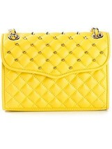 NWT Rebecca Minkoff Quilted Mini Affair Crossbody Bag Marigold Yellow $325 - $217.79