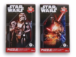 Star Wars 300 Piece Jigsaw Puzzles Set of 2 The Force Awakens Ages 9+ Fa... - $10.84