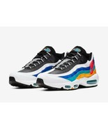 "NEW Nike Air Max 95 SE ""Windbreaker"" White Rainbow Shoes AJ2018-123 Size 8 - $148.49"
