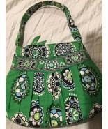 VERA BRADLEY HANNAH Hand BAG, IN CUPCAKE GREEN Black Purse CUTE - $13.35