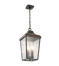 Kichler 49740OZ Forestdale Outdoor Pendant 10in Olde Bronze Aluminum 4-l... - $289.99
