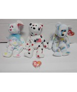 TY Beanie Baby Bears Glory 1997 Cheery 2000 and Kissme 2001 Lot of 3 - $14.85