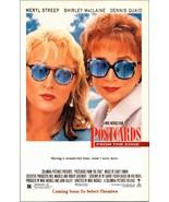 Meryl Streep Shirley MacLaine Dennis Quaid 1990 AD Postcards From the Edge  - $10.99