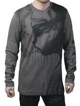 Dunkelvolk Uomo Grigio Trulo Peruviana Arte Traspirante Life IN Lungo T-Shirt NW