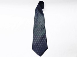 Mens Dark Blue 100% Silk Necktie from Structure - 101519e - $6.90
