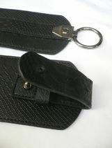 Cinturón para Dama Moda Hip Cintura Elástico Negro Ancho Imitación Piel de image 7
