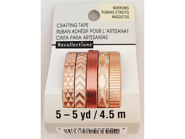 Recollections Thin Foiled Washi Tape, 5 Rolls #495439