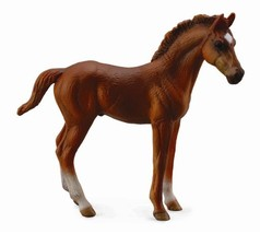 <><   Breyer CollectA 88671 Thoroughbred Foal standing  -  exceptional - $5.85