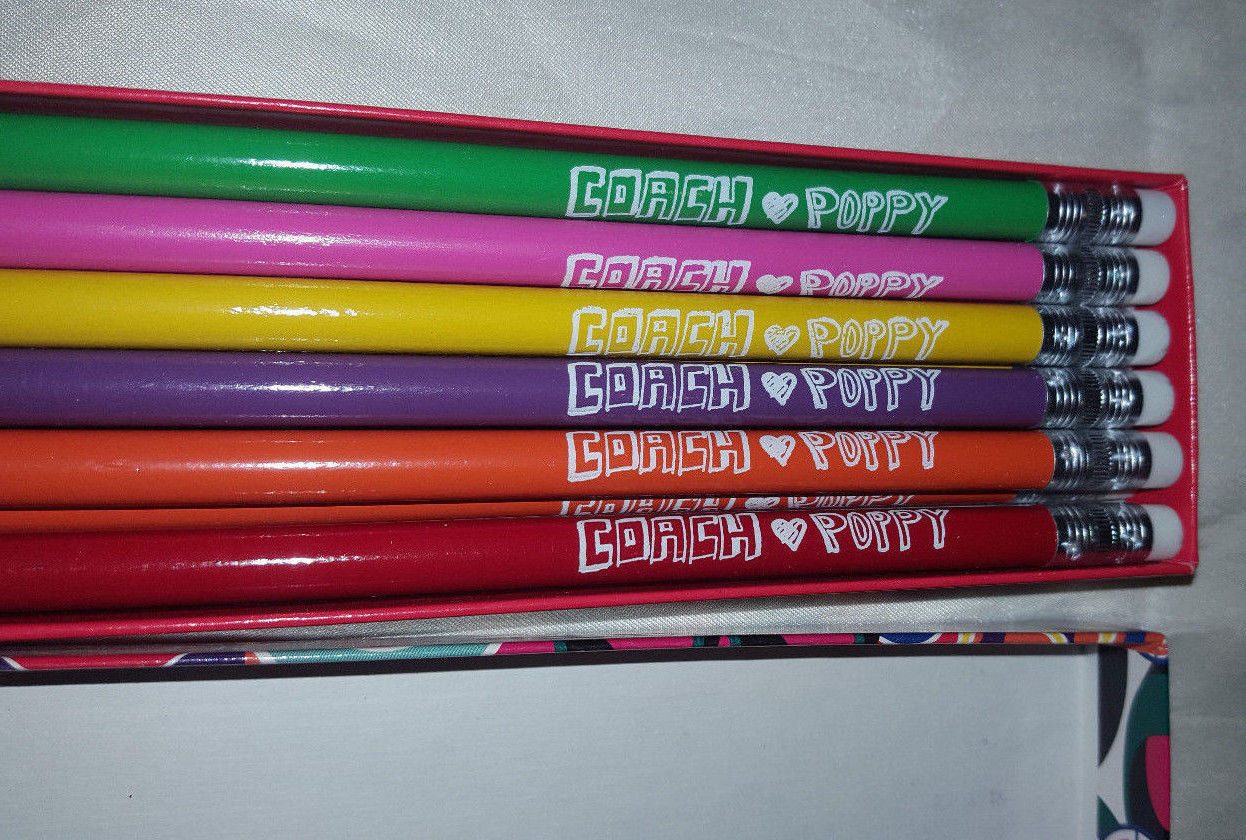 Coach Poppy Pencil Set in box - 12 Pencils image 2