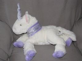 "COMMONWEALTH 2001 STUFFED PLUSH WHITE LAVENDER PURPLE UNICORN HORSE 12"" 14"" - $56.42"