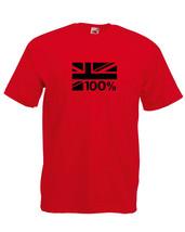 100% BRITISH UNION FLAG JACK DESIGN T SHIRT mens unisex - $14.85