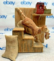 """Lowell Davis """"On The Move"""" Figurine 1982 Schmid 1166/4000 Stairs 225206 Cat Tale - $168.28"""
