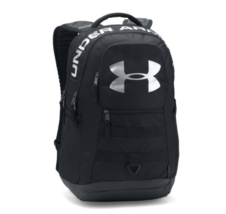 Under Armour Big Logo 5.0 Backpack With Laptop Sleeve ~ Black & Silver - $54.44