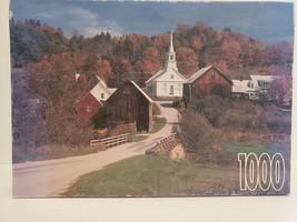 "Vintage RoseArt Waits River Vermont 1000 Piece Jigsaw Puzzle 18 15/16"" x... - $14.01"