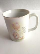 """VTG Enesco Cup Mug """"Make A Joyful Noise"""" Precious Moments 1984 Jonathan ... - $10.84"""