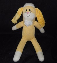 "18"" OZARK MOUNTAIN KIDS YELLOW SOCK MONKEY BUNNY RABBIT STUFFED ANIMAL P... - $28.05"