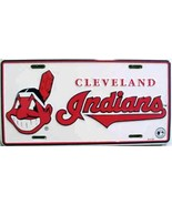 MLB Cleveland Indians White Aluminum Metal Car License Plate Auto Tag - $5.95
