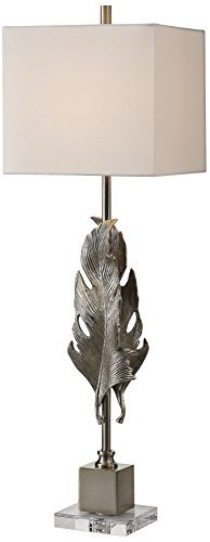 Uttermost Luma Metallic Silver Champagne Buffet Table Lamp