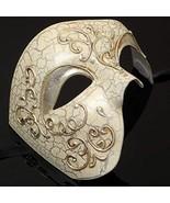 Mens Phantom of the Opera Masquerade Mask - Silver by MasqueradeParty - $14.92