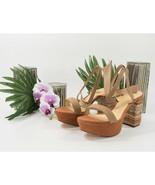 Alexandre Birman Noelle Suede Embroidery Heel Platform Sandals 39.5 9.5 NIB - $281.66