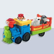 Fisher-Price Little People Choo-Choo Zoo Train CMP36 Conductor and 2 Animals - $19.99