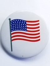 4th of July American Flag Novelty Mini Button Pin