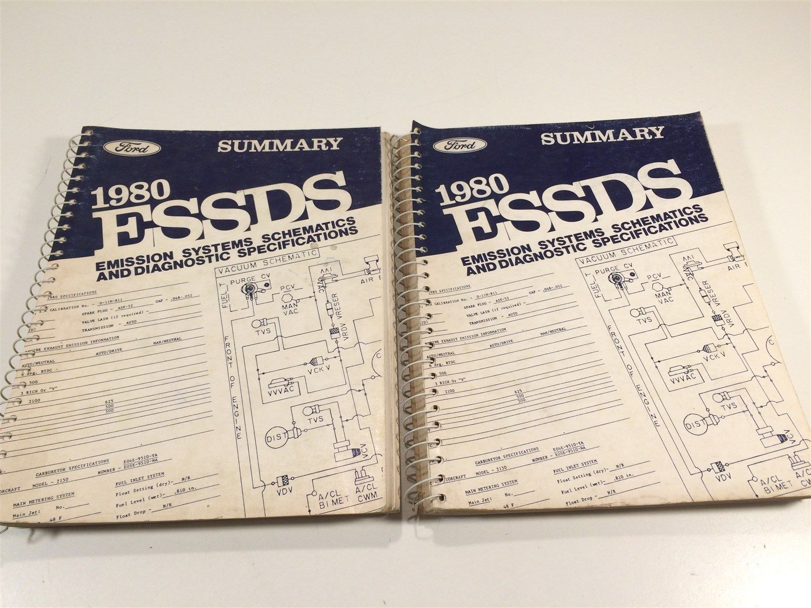 1980 Ford ESSDS Summary Emission Systems Schematics and Diagnostic Specification - $9.99