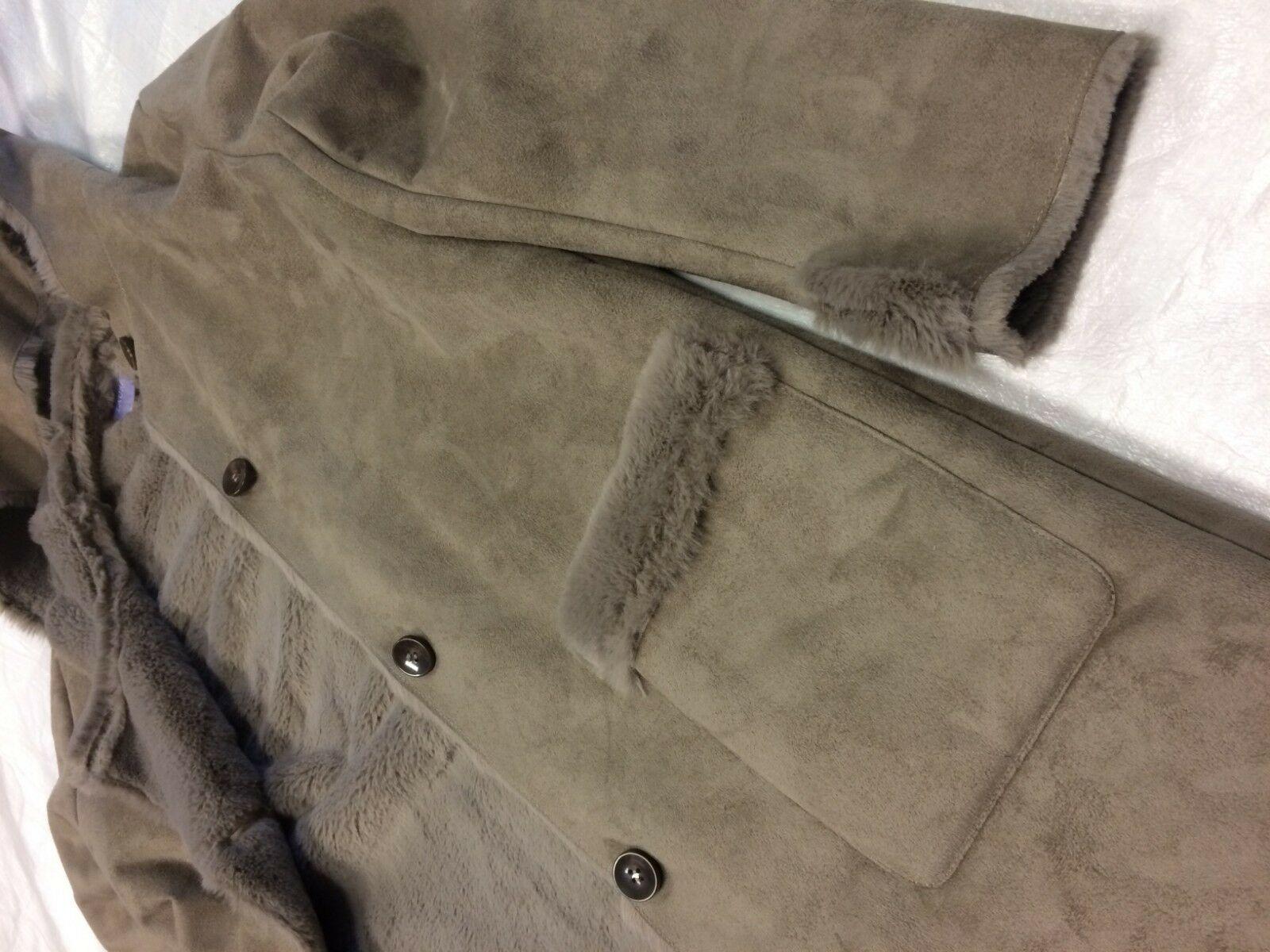 Laura Scott Brown Button Up Coat Large NWOT