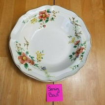 Mikasa Heritage Capistrano 9 Inch Serving Bowl Purple Rust Yellow Floral  - $15.84