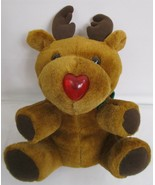 Novadona Light Up Singing Rudolph the Red Nosed Reindeer Plush Stuff Toy - $12.85
