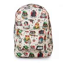 Star Wars Backpack Tattoo Flash Backpack Loungefly Star Wars Character Licensed - $60.00