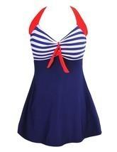 Women's Halter Neck Rompers Swimsuit Swimwear Bikini Set With Skirt Siz... - £45.75 GBP