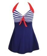 Women's Halter Neck Rompers Swimsuit Swimwear Bikini Set With Skirt Siz... - $63.85