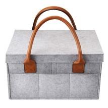 Car Caddy Organiser, Baby Diaper Caddy, Nappy Organiser Grey Basket Stro... - $14.60