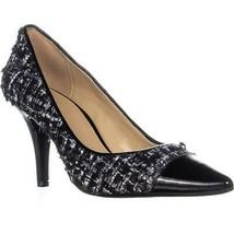 Michael Kors MK Flex Mid Toe Cap Pointed Toe Classic Heels, Black/Silver - $42.99