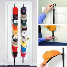Baseball Cap 2 Racks Closet Hangers Organizer Fits 18 Over Door Hat Hook... - $16.26 CAD