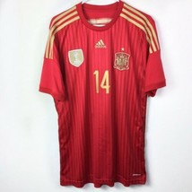Adidas Mens Spain Soccer Jersey RFCF Shirt Climacool Red FIFA Champs 2010 SZ XL - $18.69