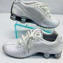 Nike Shox  Sneakers Womens 9.5 White Gray Sliver  - $61.09