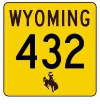 Wyoming Highway 432 Sticker R3541 Highway Sign - $1.45+