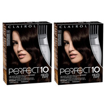 2-Pack New Clairol Nice N' Easy Perfect 10 Hair Coloring Tools, 3 Darkes... - $33.99