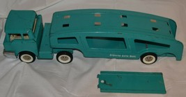 Vintage Structo Auto Haul Pressed Steel Car Transport Semi Tractor Trailer - $121.54