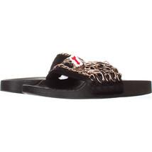 Steve Madden Chains Chain Link Slide Sandals 987, Black, 10 US - $24.95