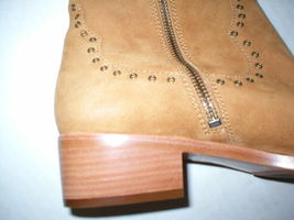 New $578 Womens 9.5 Frye Suede Leather Boots OTK Tall Knee Fringe Ray Camel Tan image 12