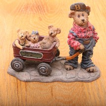 Boyds Bears and Friends The Bearstone Collection Huck Rollin Along 227727 - $18.69