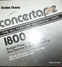 "Radio Shack Concertape 7"" Reel Recordable Tape 1800 feet 1.0 Mil New Sealed - $10.40"