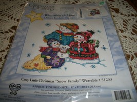 """Cozy Little Christmas """"Snow Family"""" Wearable 51233 - $10.00"""